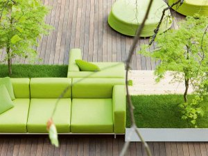 Paola Lenti Bench Outdoor Lounge